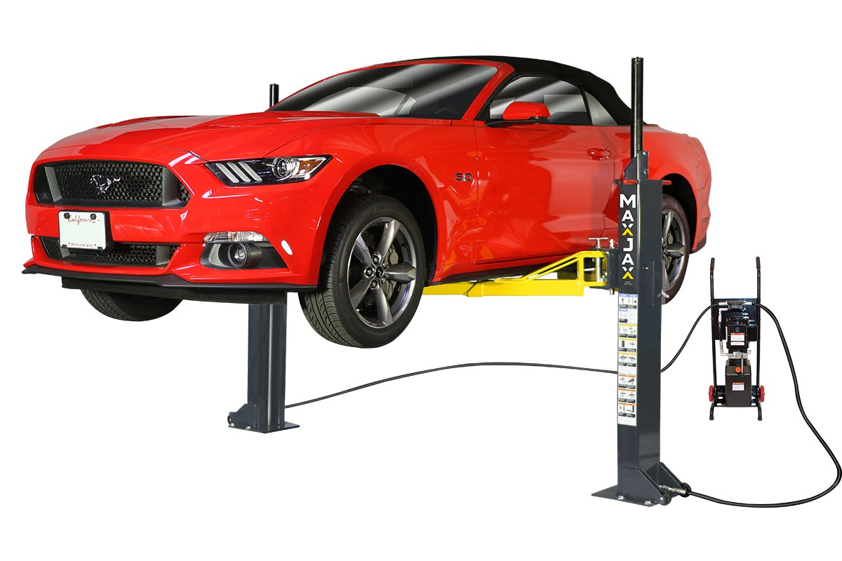 MaxJax M6 Portable Two Post Lift for home garage - Liftmotive